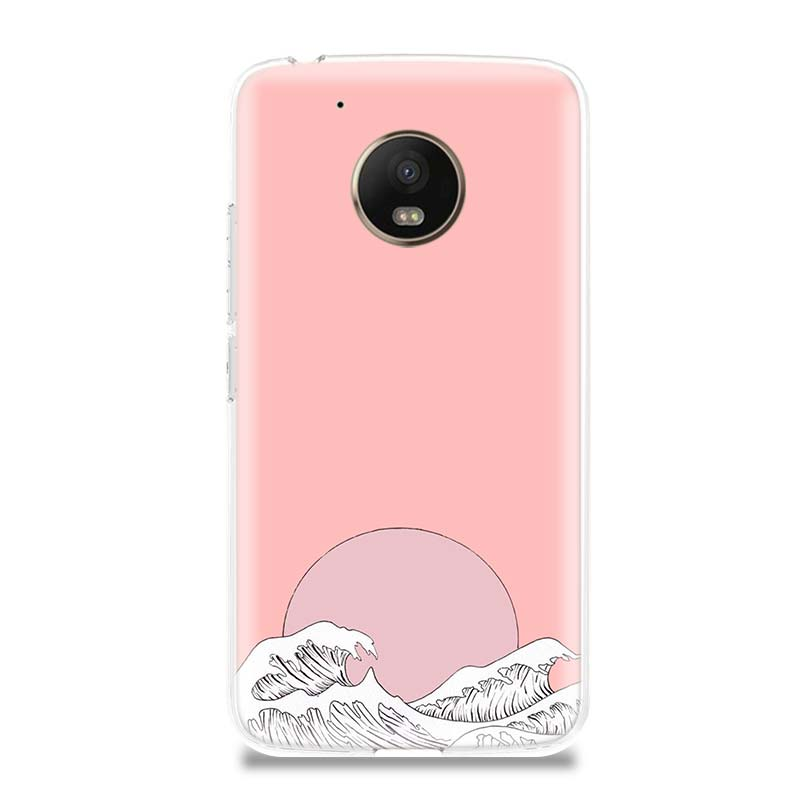 Artistic Wave Special Phone Case For Motorola Moto G7 G6 G5S G5 E4 Plus G4 E5 Play Gift Patterned Customized Coque Cover Shell in Half wrapped Cases from Cellphones Telecommunications