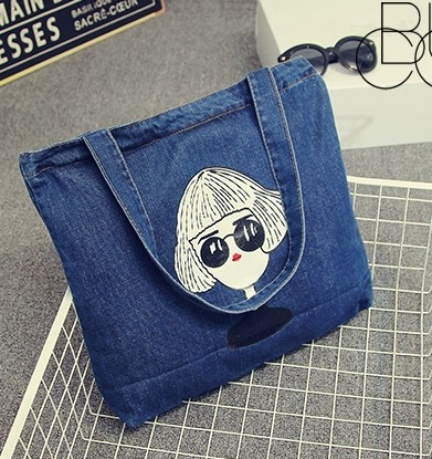 Casual mujer denim bolsa para viajes femeninos grandes bolsas de hombro  vintage blue jeans bolso de