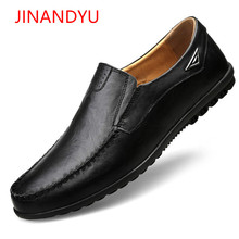 Mens Casual Shoes Hot Sale Men Genuine Leather Loafer Man Breathable Driving Loafers Boat