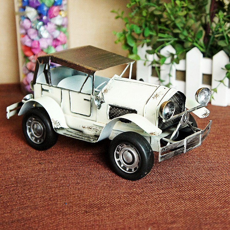 Retro vintage car model office tabletop furnishing home decoration craft gifts photography props