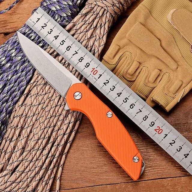 BGT 111 Hunting Folding Knife D2 Steel G10 Flipper Tactical Combat Outdoor Camping Pocket Knives Survival EDC Rescue Multi Tools
