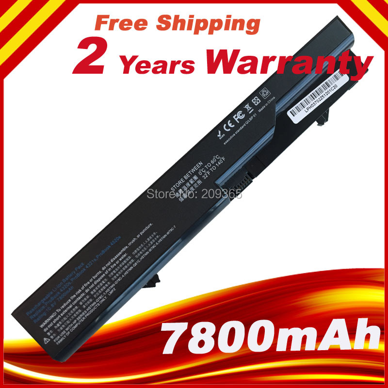 9 Cells 7800mAh Laptop Battery For HP ProBook 4320 4325s 4320s 4321 525s 4321s 4520s 4320t 4326s 4420s 4421s 4425s 4520 620 625 аккумуляторная батарея topon top 4320 4800мач для ноутбуков hp 425 4320t 625 probook 4320s 4321s 432