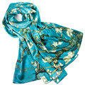 100% Silk Scarf Women Scarf Almond Blossom Silk Shawl 2017 Designer Scarf Silk Pashmina Long Thick Silk Wrap Luxury Lady Gift
