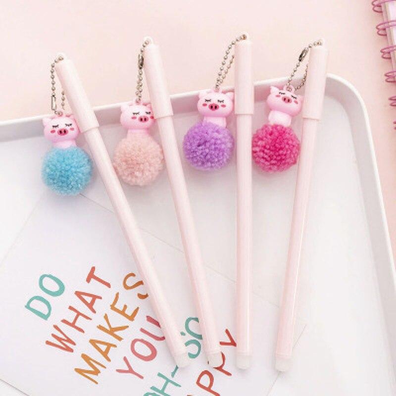 1pcs Piglet Gel Pens Cute Stationery 0.5mm Kawaii Pens Student Black Gel Pen Novelty Cartoon Cute Pen Kawaii School Supplies