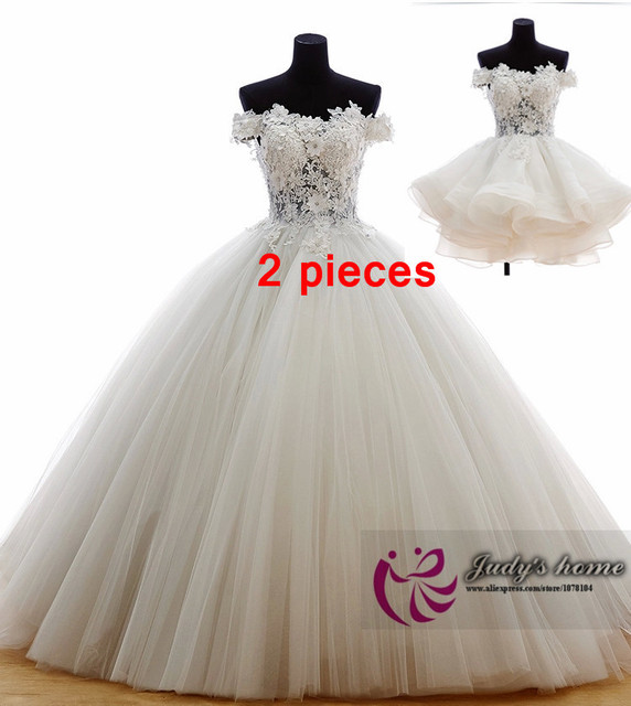 8d0be2f5ebb Real Sample Wedding Dress Latest Design Lace Ball Gown Wedding Dress  Wholesale Wedding Dress Wedding Dresses Removable Skirt