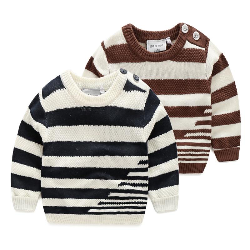 Knit Boys Sweater Striped Мақта Балалар Свитер - Балалар киімі - фото 3