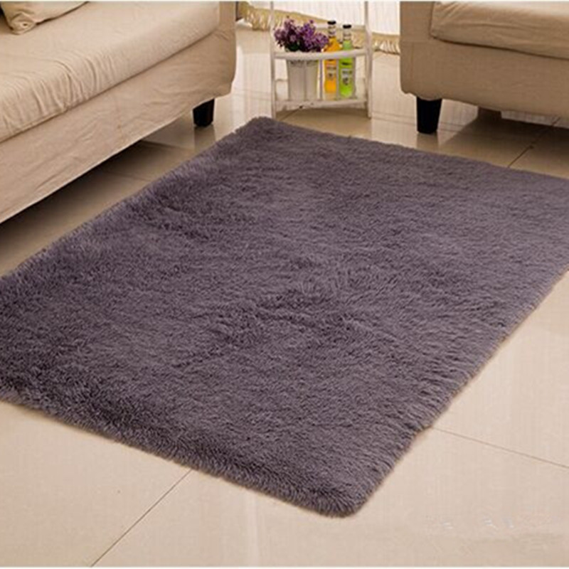Home carpets 160*230cm big rug long hair carpet for living room bedroom solid floor rugs bed mat 4 5cm long hair carpet large