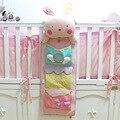 Bonito cama pendurado saco de armazenamento saco de fraldas do bebê organizador berço 75*25 centímetros saco de fraldas fralda de bolso brinquedo para o bebê crib bedding conjunto