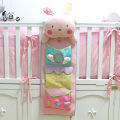 Cute baby bed hanging storage bag nappy bag crib organizer 75*25cm diaper nappy bag toy pocket for baby crib bedding set