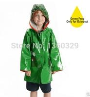 Japanese Style Thickening Cartoon burberry_ kids Raincoat Yellow Red Green Poncho with hood Baby Rainwear Children Rain Coat