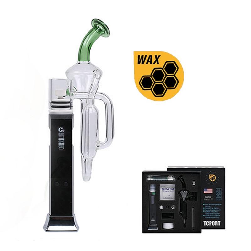 G9 Tcport E clou tuyau d'eau en verre fumer vaporisateur régulateur de température ecig cire stylo kit avec batterie rechargeable 3000 mAh 0C