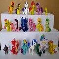 (Qualidade em geral, alguns fade) 16-18 pçs/lote lindo cavalo família Princesa Celestia boneca Lua Pesadelo brinquedos