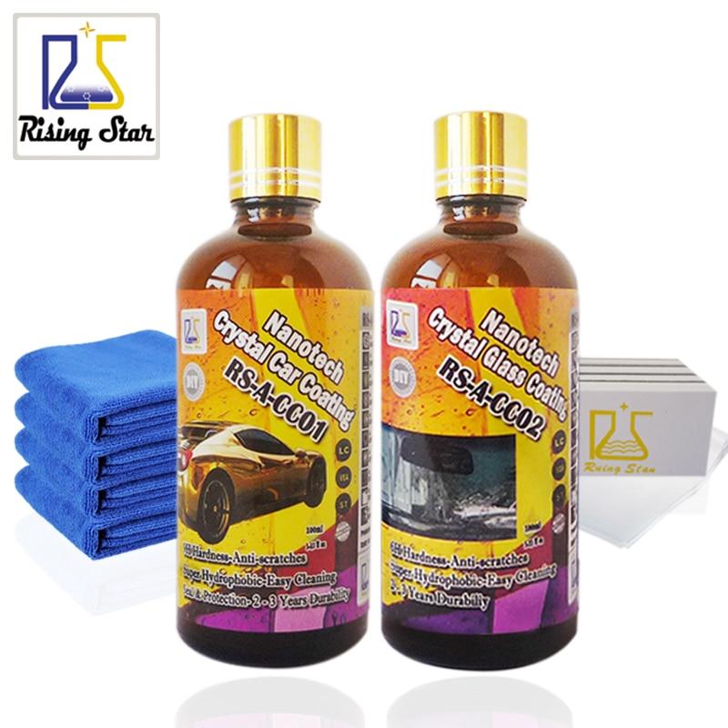 Rising Star RS A CC0102 Liquid Glass Nano Hydrophobic Ceramic Car Care Coating Crystal Car Glass