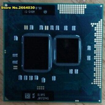 Livraison gratuite Mobile InteI core I5 560 m I5-560m Dual Core 2.66 GHz L3 3 M PGA 988 PGA988 CPU Processeur fonctionne sur HM55