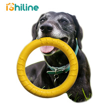 Dog Toys Rubber Fetch Flying Disc Pet Training Ball with Rope Discs Chew Toy For Dogs Puppy