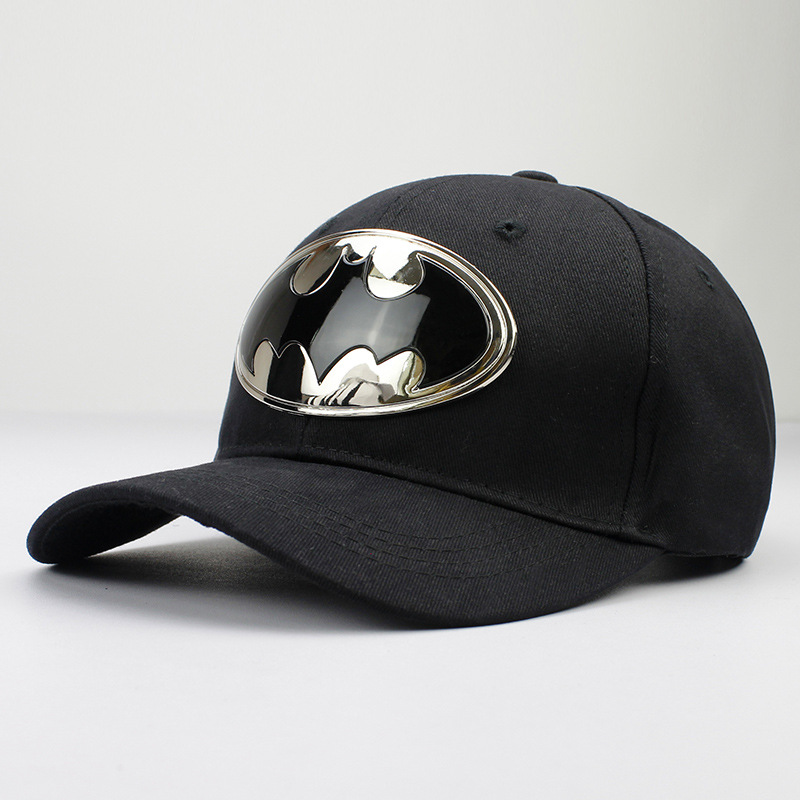 Snapback Hats Baseball-Cap Batman Geometric Adjustable Metal Women Cotton Acrylic