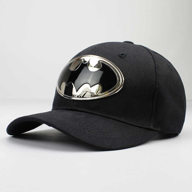 1d9b467129d 2018 Geometric batman metal cotton acrylic Casquette Baseball Cap Adjustable  Snapback Hats for men and women