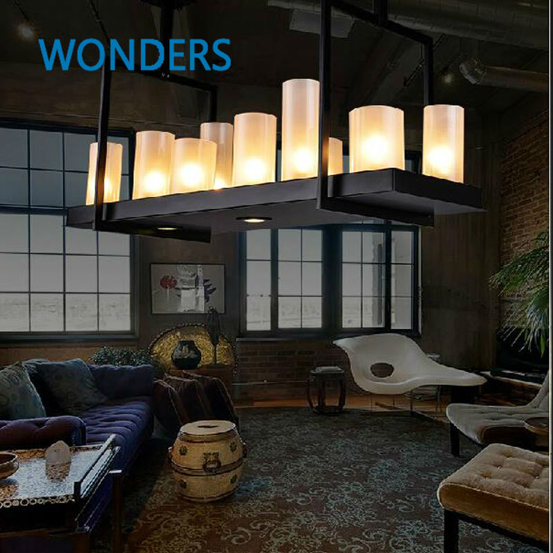 Kevin Reilly Altar Modern Pendant lamp LED candle Kevin Reily Light metal light fixture candle suspension lamp greg pak fred van lente reilly brown incredible hercules