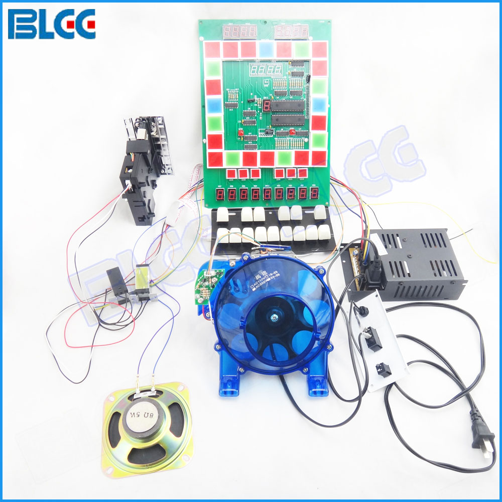 Mario Bundles Parts Kit With Coin acceptor, Motor,Gaming Keyboard,Power Supply,Speaker,Counter DIY