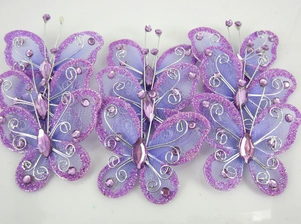 2017 Hot Free Shipping 50pcs Purple Erfly Wedding Decoration Home Decor Party Accessories 5cm In Wall Stickers From Garden On Aliexpress