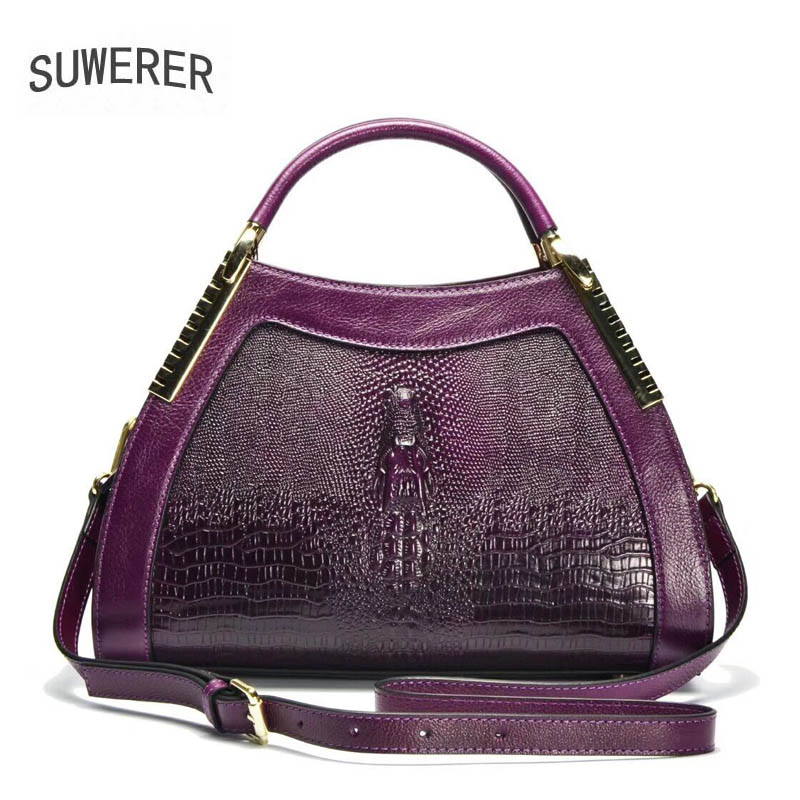 2018 new fashion crocodile pattern handbag Women 39 s handbags Personalized fashion shoulder Messenger bag in Top Handle Bags from Luggage amp Bags