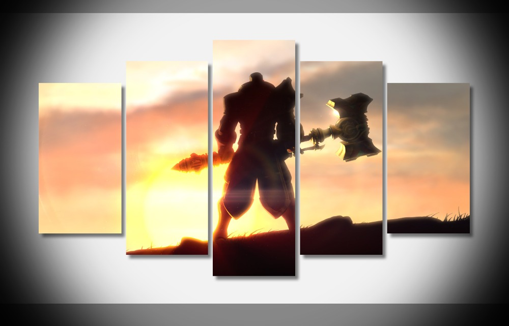 jayce league of legends game character axe Poster canvas painting ...