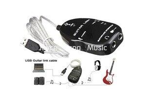 Адаптер USB-кабеля для подключения к ПК/MAC, черно-белый интерфейс электрогитары