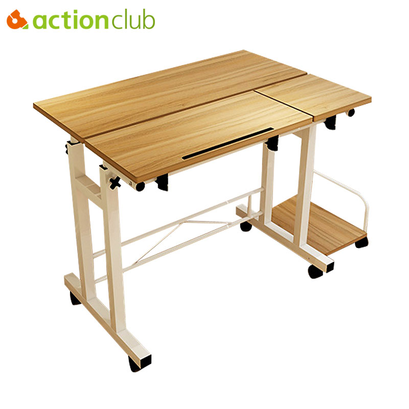 Actionclub Simple Mode Mobile De Levage UP Down Portable Ordinateur De Bureau Bureau Plié D'apprentissage Réglable Table Salle D'étude