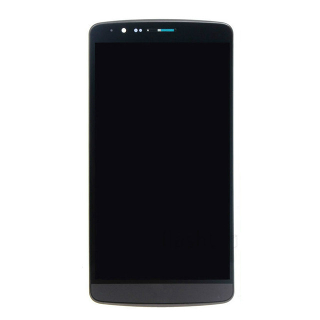 Pantalla lcd de pantalla para lg g3 d858 touch screen digitizer + conjunto del bastidor para d855 pantalla táctil de cristal blanco y negro
