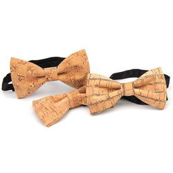 RBOCOTT Cork Wood Bow Tie Wooden Bow Ties Men's Novelty Handmade Solid Bowtie For Men Wedding Party Accessories Neckwear 5
