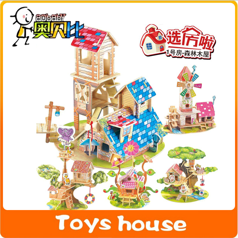 Toys For Grownups : Diy d house model puzzle educational toys