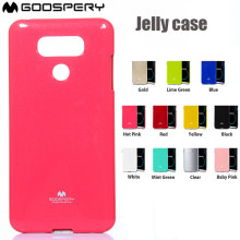 For LG G3 G4 G5 G6 V10 V20 V30 GOOSPERY Pearl Jelly Slim Protective TPU Bumper Cover Case(China)