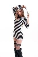 ハロウィン囚人コスプレ衣装スタイルセクシーな女