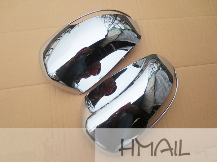 2PCS ABS Chrome Rearview mirror cover for JAC REFINE S3,plating plastic mirror trim decorative protect strip cover film stickers