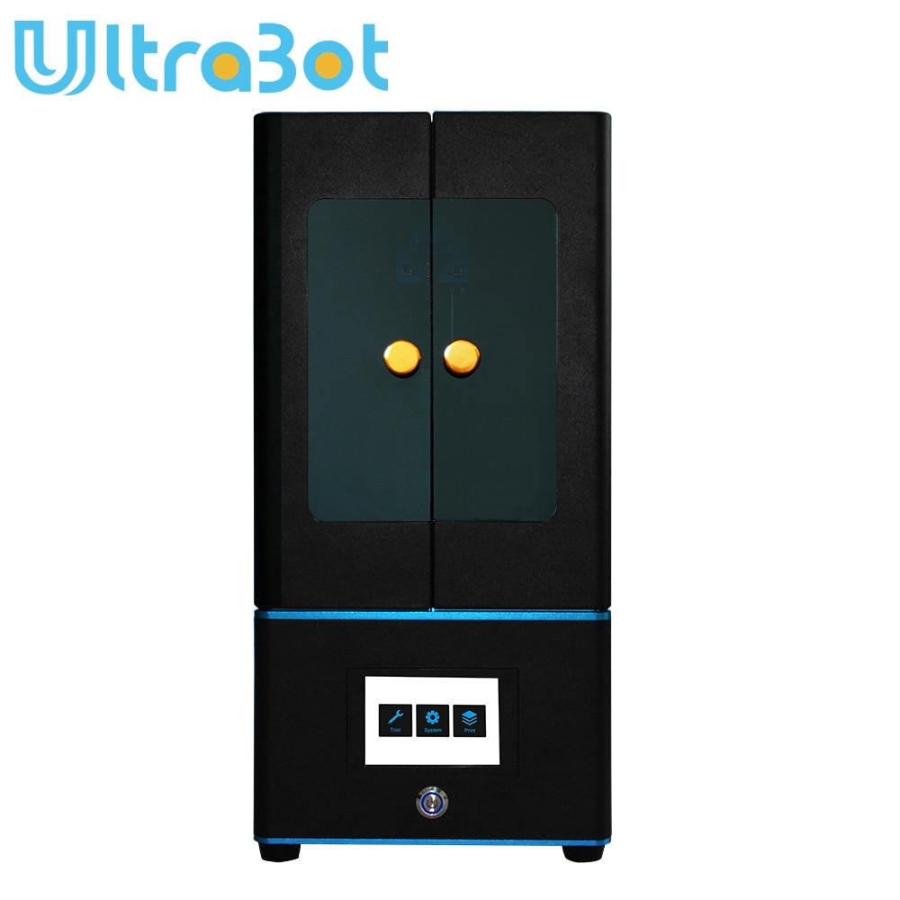 ULTRABOT Tela LCD 3D Impressora Plus Size UV Montado 2K Off-Line de Impressão Impresora 3d Drucker Impressora UV resina