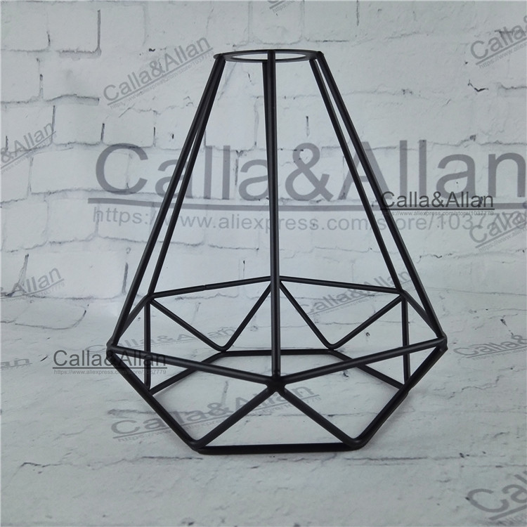 Free shipping M42 hole lamp shade 170mmX195mm iron small diamond cage edison lamp shade DIY black iron house shade for lighting рубашка insight death shade floyd black