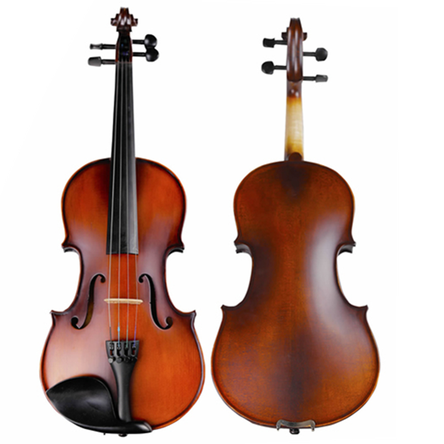 Natural Flamed Maple Acoustic Violin 4/4 3/4 Antique Matt Violino Full Size Musical Instrument with Accessories TONGLING Brand full size 4 4 solid basswood electric acoustic violin with violin case bow rosin strings accessories