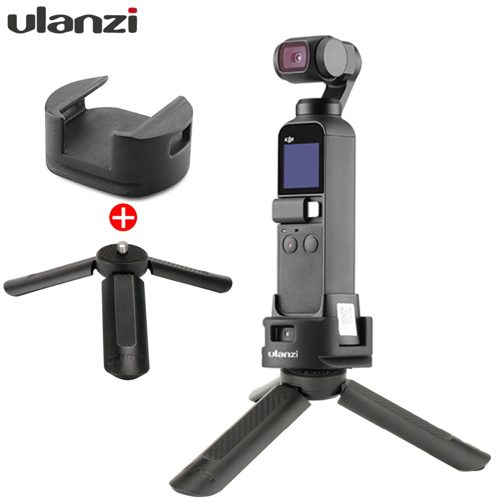 DJI Osmo Pocket Tripod With Ulanzi WiFi Tripod Base Adapter For Osmo Pocket Wireless Module,1/4'' Hole Arca Quick Release Mount