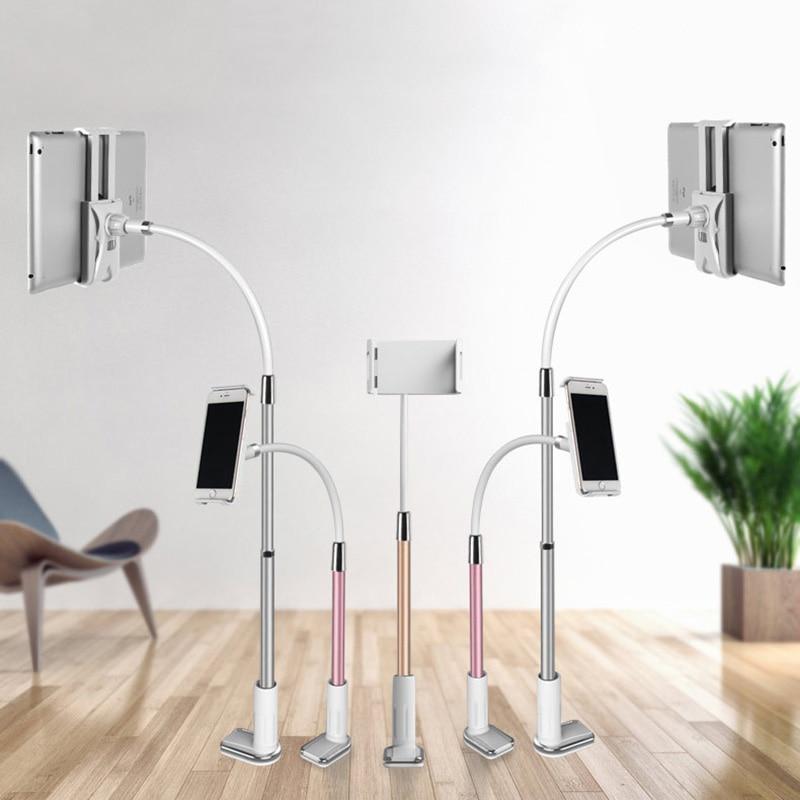 Vmonv Long Arm Flexible Adjustable Tablet Holder Stand For Iphone X 8 Ipad Samsung 4-10.5 Inch Lazy Bed Desk Metal Tablet Stands
