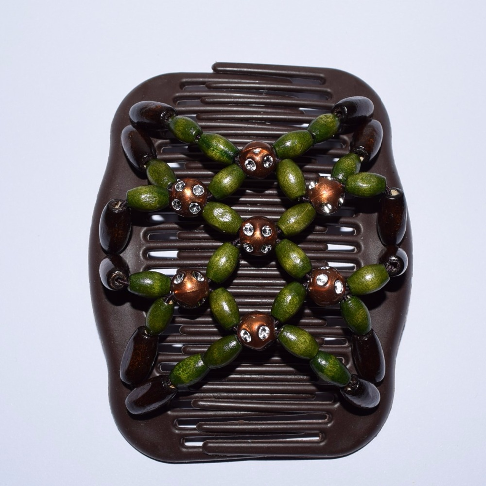 dark green and brown classical beads comb 20 pcs/lot royal pattern work lady hair accessory Easy to Use