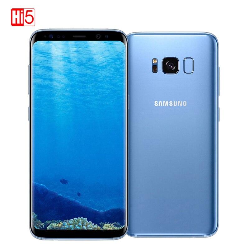 Débloqué Original Samsung Galaxy S8 Plus 4g RAM 64g ROM 6.2 pouce Qualcomm Octa Core 4g LTE mobile Téléphone D'empreintes Digitales Android 7.0