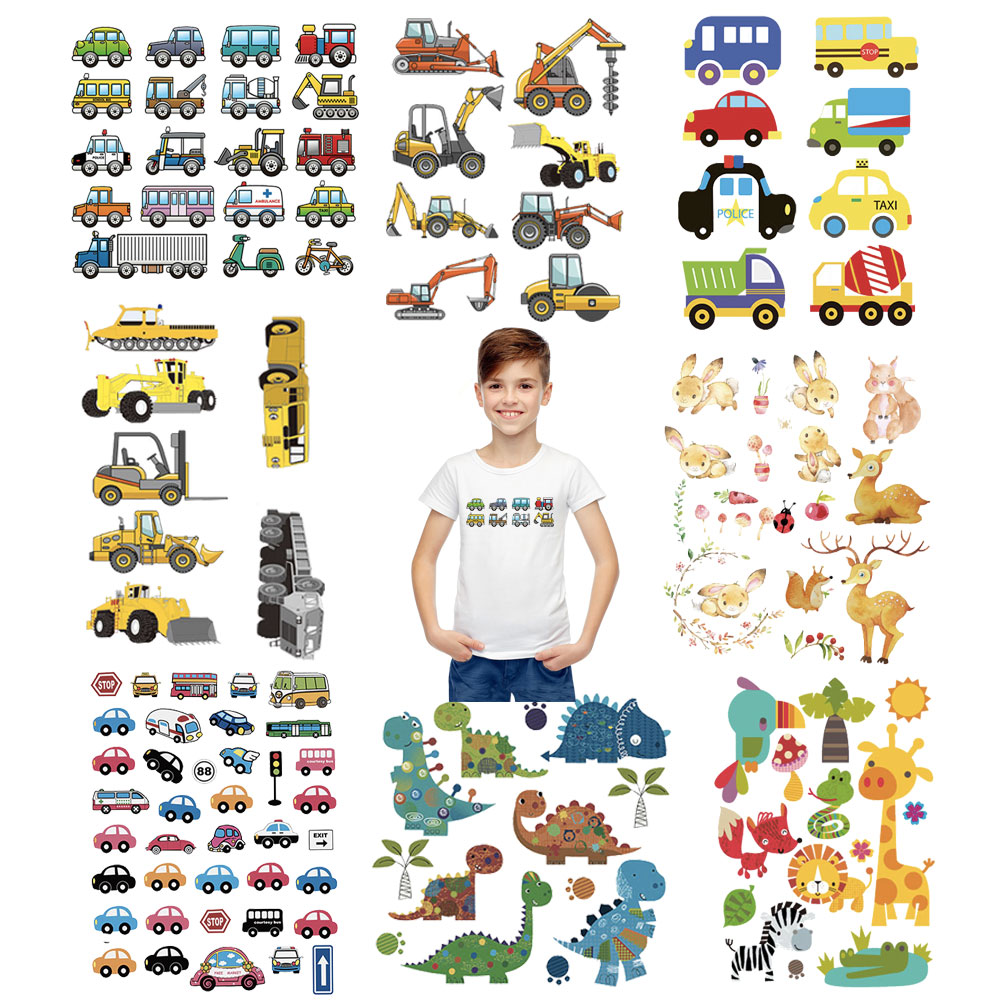 cartoon truck car <font><b>patch</b></font> <font><b>iron</b></font> <font><b>on</b></font> transfers for children clothing <font><b>patch</b></font> thermal stickers for <font><b>kids</b></font> hoodies washable appliques cheap image