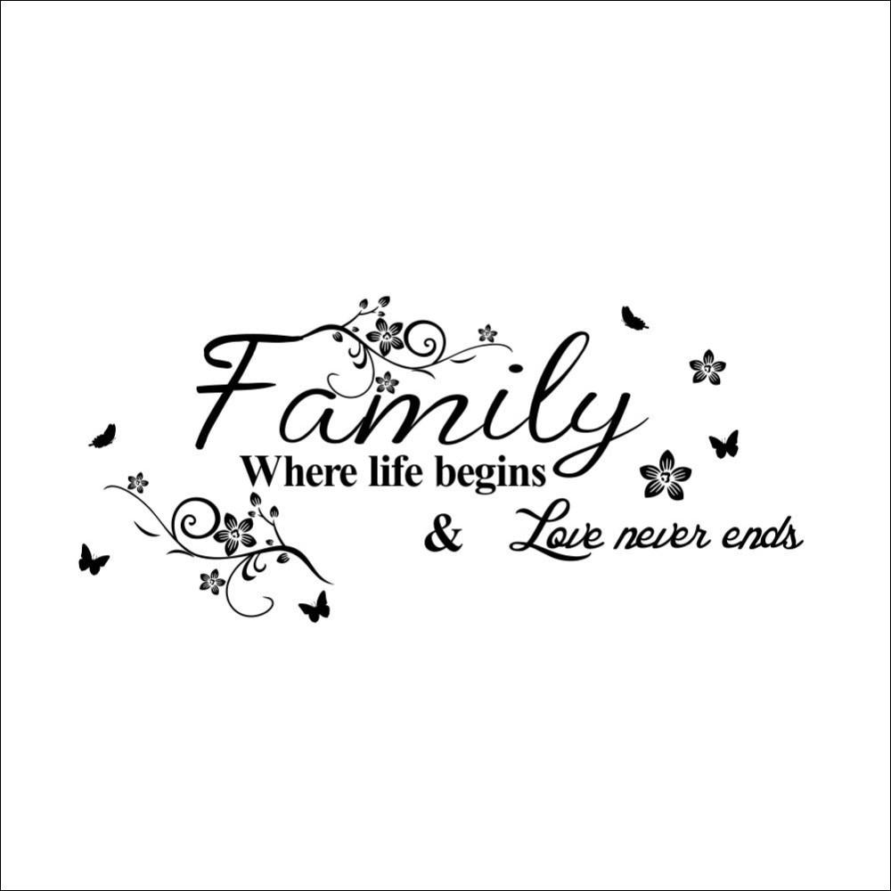 Zeer Tekens gezinsauto motto tekst bloem wijnstok 2015 nieuwe woonkamer  #XV-43