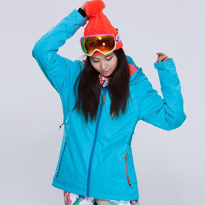 Prix pour Livraison gratuite Femmes de Ski ou Snowboard Veste Extérieure Coupe-Vent Imperméable Ski Veste Respirant Hiver Doux Thermique Jaket
