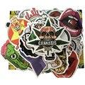 100 unids Moda fresca DIY divertido etiqueta engomada DEL PVC en Europa y América Del Fan bolsos accesorios del coche pegatinas de coche eléctrico Graffiti