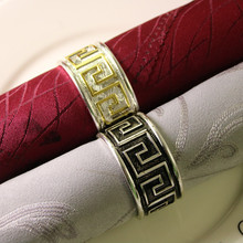 12PCS alloy napkin ring classical style creative hotel home accessories