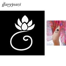 1 Sheet Henna Tattoo Stencil Paper Small Blooming Lotus Pattern Airbrush Painting Body Art Waterproof Henna Tattoo Template G117