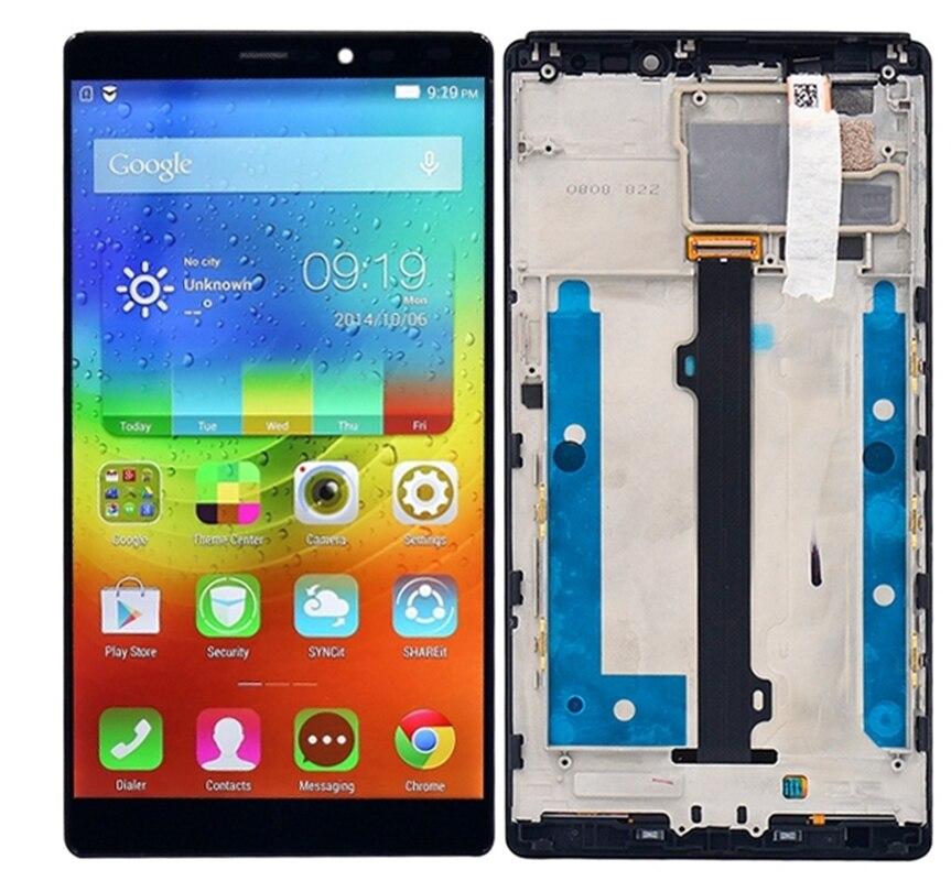 6 pouces 2560*1440 écran lcd et Digitizer Assemblée Complet avec Cadre pour Lenovo Vibe Z2 Pro/K920 Remplacement pièces de Rechange