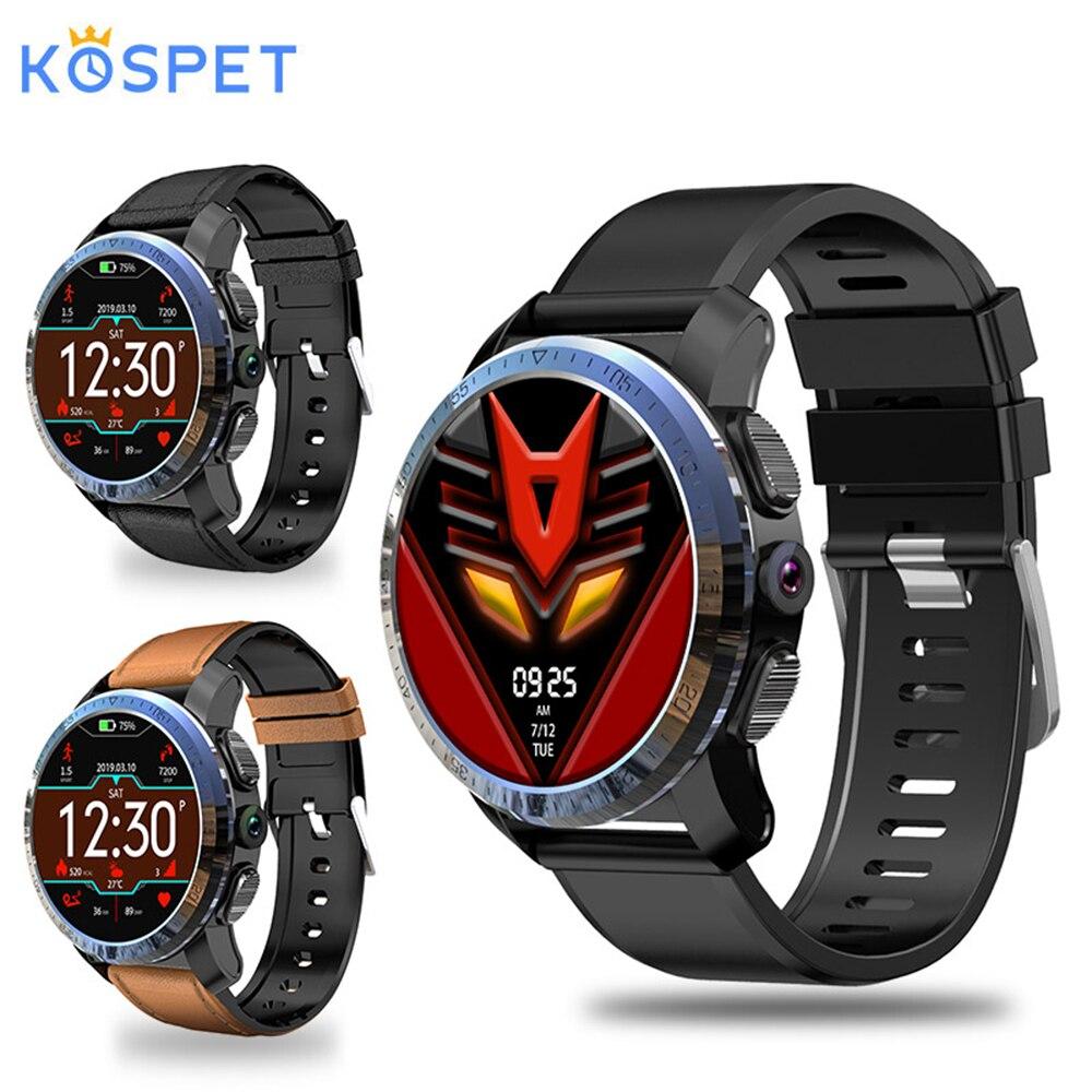 Kospet Optimus Pro double systèmes 4G montre intelligente 3GB + 32GB 8MP caméra GPS SIM 800Mah batterie étanche Android Smartwatch téléphone
