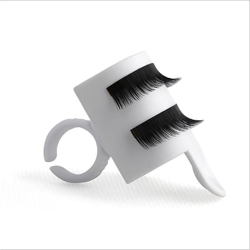 U Shape Eyelash Extension Glue Ring With Adhesive Eyelash Pallet Holder Makeup Kit Tool Make Up Fake Eyelashes Extension Holder